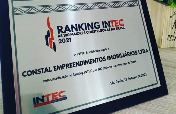 Constal Empreendimentos ganha pelo 2º ano consecutivo o certificado da Intec